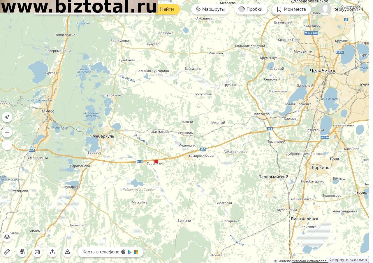 Земельный участок 6,5 га на трассе м-5 уфа-челябинск