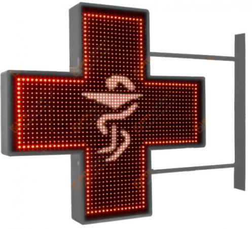 Аптечный крест 640x640мм красный