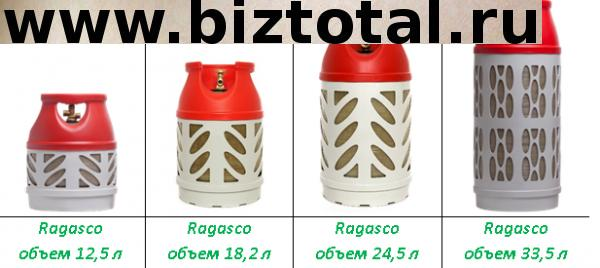 Аренда/прокат газовых баллонов rogasco 12,5 литров