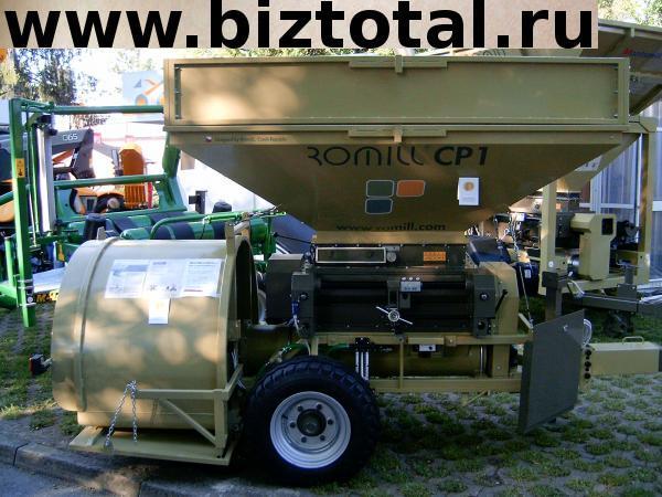 Мобильная плющилка влажного зерна с прессом ROmiLL CP1 simple