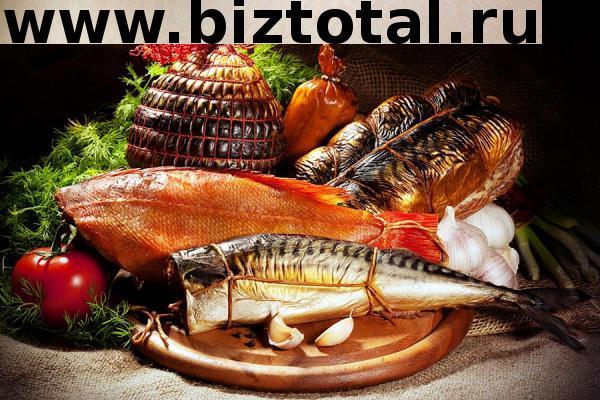 Цех копчения рыбы и мяса
