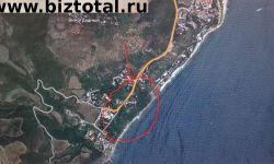Участок 5 Га на берегу моря в Лазурном, Крым под пансионат или развлекательный центр