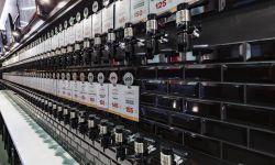 Магазин пива в прикассовой зоне гипермаркета