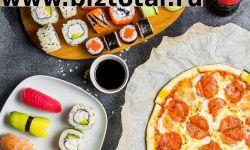 Служба доставки пиццы, суши и роллов