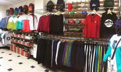 Действующий магазин одежды с товаром