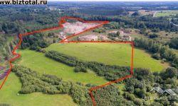 13,7 га сельскохозяйственная земля (9,7 га гравийного карьера), Клявини, Таурупская волость, Огрский край, Латвия.
