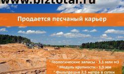 Продается песчаный карьер 90 ГА в Дзержинском районе Калужской области.