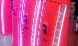 Платежный терминал в корпусе с подсветкой