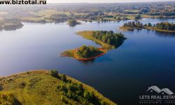 1700 кв.м., остров, Аксеновас озеро, Кипсала, Шкелтовская волость, Краславский край, Латвия.
